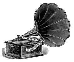 Free Vintage Image ~ Talking Machine Clip Art