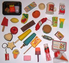 Fond memories of my eraser collection that someone nicked from my drawer at Junior school.