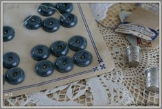 old buttons and lace....