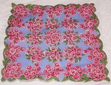 Vintage Hankie Handkerchief Beautiful Floral!!! Pink!!!