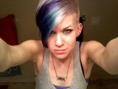 purple and blue streaks <3