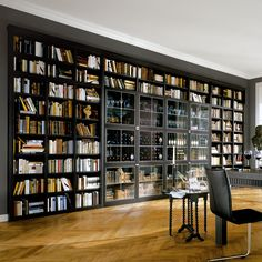 Image result for wooden library home