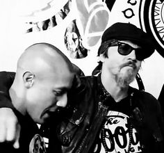 Theo Rossi and Tommy Flanagan
