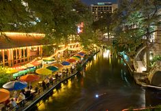 San Antonio, Texas - I love love love the Riverwalk here! (I was born near here)