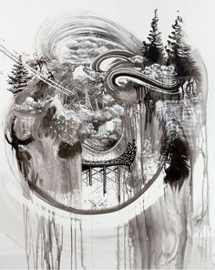 I've long been a fan of Minnesota artist Gregory Euclide (previously here and here) whose intricate multimedia installations and sculptures often contain an unusual mix of visual elements ranging from strange architectural creations to natural phenomena like trees and rivers built from uncommon mate