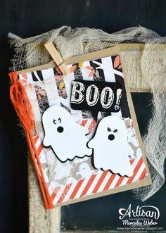 Video tutorial & supplies used posted on my blog! TFL! http://mercedesweber.blogspot.com/2014/09/paper-pumpkin-night.html