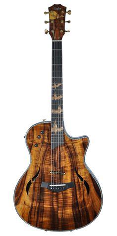 custom acoustic guitars | Taylor Custom T5 Acoustic Electric Guitar Koa Pelican Inlay | eBay