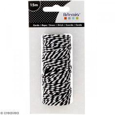 Ficelle bicolore coton - Black