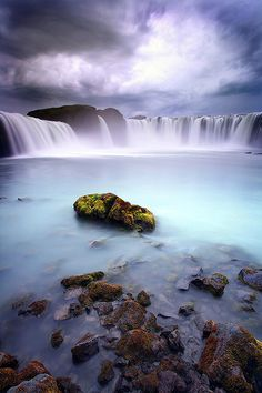 The Goðafoss Waterfall is one of the most spectacular waterfalls in Iceland. It is located in the Bárðardalur district of North-Central Iceland.