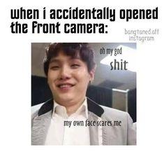 yoongi, kpop memes, front camera, bangtan memes