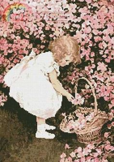 Betty's Posy Shop by Jessie Wilcox-Smith (Artecy Cross Stitch) Victorian Cross Stitch, Cross Stitch For Kids, Needlepoint, Hand Embroidery, Tapestry, Style Inspiration, Counted Cross Stitch Patterns, Jessie, Shop