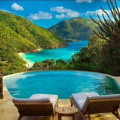 Beautiful pool overlooking beautiful scenery