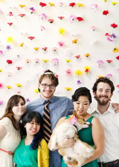 Make a festive, flowery photo backdrop for your next party.