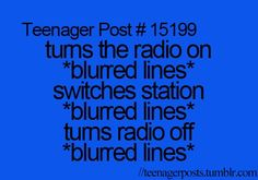 Teenager Posts. Took me a minute to figure it out, but you'll get there.