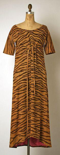 1966-67 Bonnie Cashin Evening dress Metropolitan Museum of Art, NY See more museum vintage dresses at http://www.vintagefashionandart.com/dresses