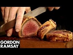 Christmas Beef Wellington Recipe from Gordon Ramsay Beef Wellington Recipe, Wellington Food, Carne Asada, Gordon Ramsey Beef Wellington, Beef Recipes, Cooking Recipes, Recipies, Chestnut Recipes, Chef Gordon Ramsay