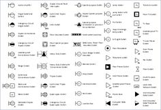 electric symbols   Light fixtures