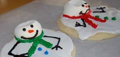 Melted Snowman Cookies!! Must make for Xmas morning x