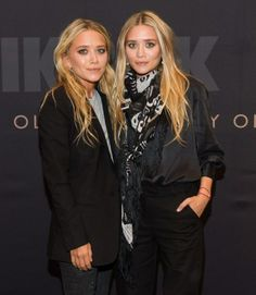 The Olsen Twins' Scarf Style -- Celebrities Wearing Scarves