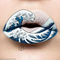 Whimsical waves: One artist showed off her ocean-inspired lip look