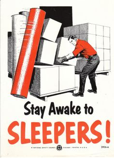 Collectable Vintage National Safety Poster  Stay by niminsshop, $12.95