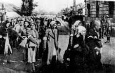 Rzeszow, Poland, Deportation of Jews from the city.