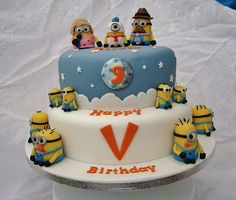 minions cake design | Check this crazy and cute Minions Cake and Cupcake Design from the ...