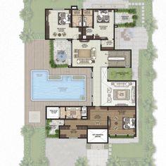 Farmhouse Floor Plans, Farmhouse Flooring, Modern Farmhouse, Building A New Home, Building Plans, Architecture Plan, Architecture Details, Legacy Projects, Villa Plan