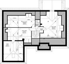 Projekt domu Willa Parkowa 5 173,6 m2 - koszt budowy - EXTRADOM Bungalow, Cute House, House Plans, Floor Plans, House Design, Flooring, How To Plan, Home Decor, Ties
