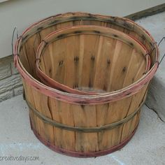 DIY Tiered Bushel Baskets