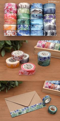 BGM's Seasons washi tapes feature colorful illustrations inspired by nature.