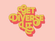 Get Diverse Lit by Simon Walker Typography Letters, Lettering, Simon Walker, Screen Shot, Folk, Community, Building, Amazing, Libraries