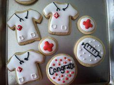 Nurse/Doctor Cookies #Nurse #Doctor #MedSchool  www.facebook.com/sweettreatscookiesbykristin