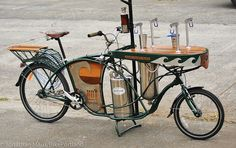 The Hydrofiets a bicycle for servicing Beer, Water, or Coffee