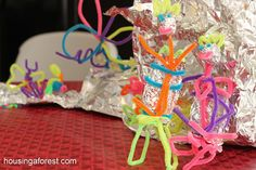 Pipe Cleaner Challenge--Simple activity for small groups during the first five days of school to begin having a conversation about creativity.