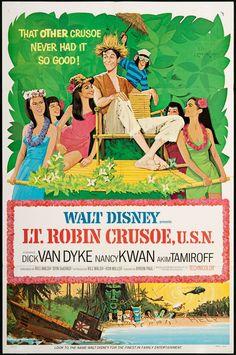 "Walt Disney's ""Lt. Robin Crusoe, U.S.N."" (1966) Stars: Dick Van Dyke, Nancy Kwan, Akim Tamiroff, Arthur Malet ~  Director: Byron Paul (Dick Van Dyke won a Golden Laurel Award for his performance 1967)"
