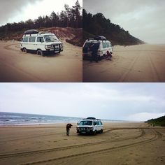 VW Syncro T3 on the Vistula Spit on the Baltic Coast in Northern Poland