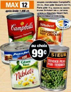 Coupons et Circulaires: .99¢ Au Choix