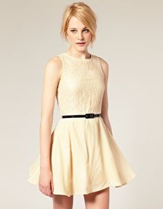 ASOS Skater Dress with Belt -- On Sale for $39.53 (Also comes in Black)