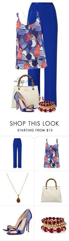 """7/11/17"" by longstem ❤ liked on Polyvore featuring Jacques Vert, M&Co, Other, Gucci, Christian Louboutin and Chaps"