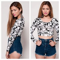 Vintage Mickey Mouse Crop Top by rumors on Etsy, $68.00