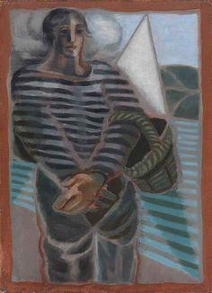 Juan Gris (Spanish, 1887-1927), Le pêcheur [The fisherman], 1924. Oil on canvas, 33 x 24.2cm.