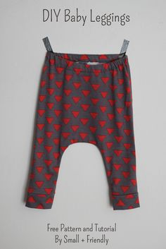 Free baby sewing patterns!  DIY leggings and shorts.  This a great way to use old t-shirts! Cheap, easy and oh so cute!