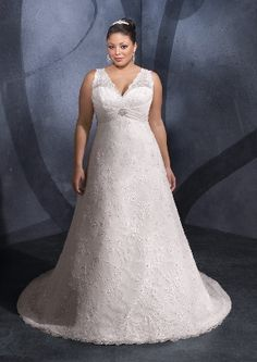 Plus Size Empire Waist Wedding Dresses With Sleeves Mzeiof