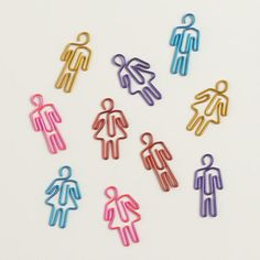 One of my favorite discoveries at WorldMarket.com: People-Shaped Paper Clips, 20-Pack