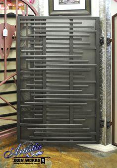 Layered wrought iron gate