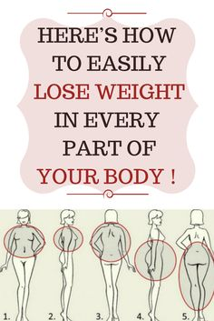 HERE'S HOW EASILY TO LOSE WEIGHT IN EVERY PART OF YOUR BODY !