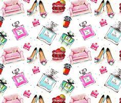 Geometric Wallpaper, Cool Wallpaper, Cellphone Wallpaper, Iphone Wallpaper, Chanel Wallpapers, Printable Scrapbook Paper, Fashion Wallpaper, Watercolor Fashion, Spoonflower Fabric