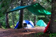 Here's 10 tips for camping in the rain.    It's a great way to test your skills and equipment.  If you are prepared, you won't be uncomfortable and you can focus on enjoying the experience.