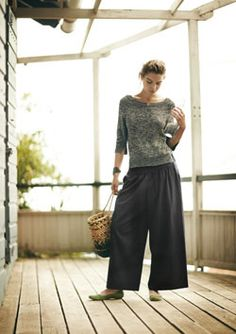 wool mix crepe wide trousers  http://www.toast.co.uk